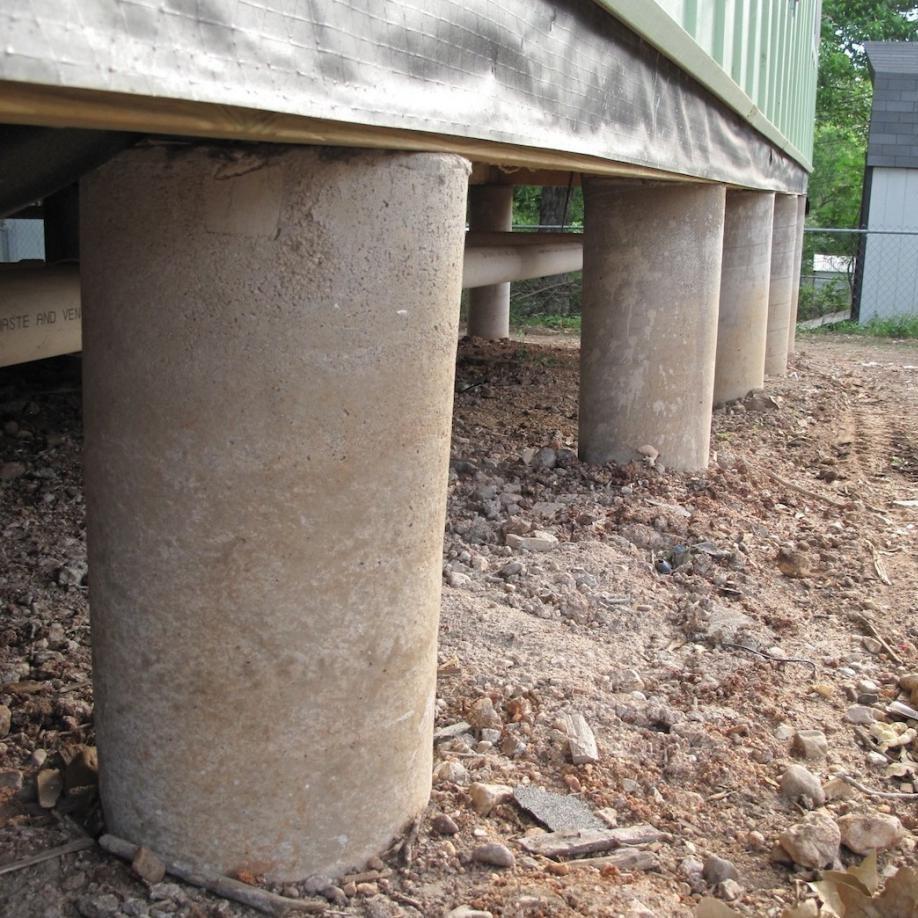 Столбчатый фундамент в строительстве жилья