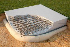 плиточный фундамент из бетона