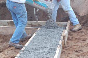 заливка бетона на почву