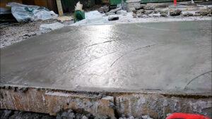 затвердевание бетона